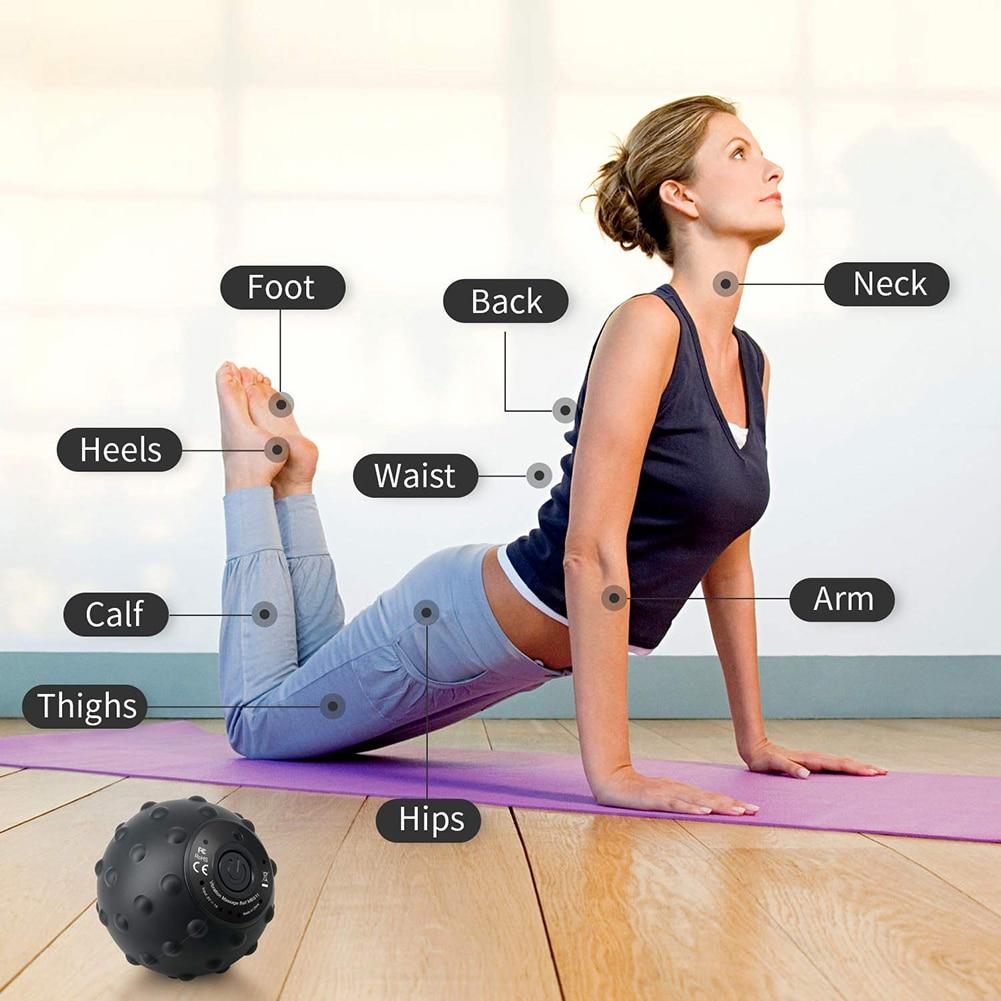 1 pc bola de massagem vibratória fitness