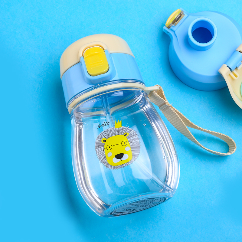 JOUDOO 350ml Kids Water Bottle With Straw Rope Portable Bottles for Children BPA Free Plastic Sports Direct Drinking Drinkware35 in Water Bottles from Home Garden