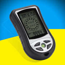 8in1 Multifunction Altimeter Digital LCD Compass Barometer Thermometer Clock(China)