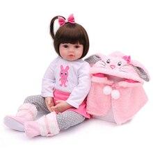 48cm NPK Silicone Reborn Baby Doll Lifelike Newborn Baby Soft Silicon Newborn Dolls Handmade Toddlers Reborn Toys Gift For kids
