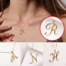 necklace women jewelry long chain gold necklace choker statement pendants alphabet stainless steel Necklaces Clavicle Chain chenfan trendy womens necklace fashion necklace female jewelry wholesale gold stone statement necklaces pendants jewelry chain