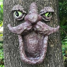 Резиновая кормушка для диких птиц дерева с двумя большими глазами