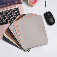 Alfombrilla de ratón antideslizante Universal de Color sólido alfombrilla para ratón de cuero para juego cojín para el escritorio Universal cómodo para Laptop PC Mat 23*20 CM