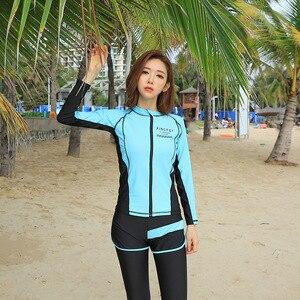 Купальник для девочек, виндсёрф, купальник для плавания, плюс размер, танкини, рубашка для серфинга и дайвинга, одежда для плавания, леггинсы...