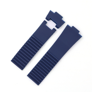 Image 5 - Rolamy 22*10mm / 25*12mm Black Brown Blue Waterproof Silicone Rubber Replacement Wrist Watch Band Strap Belt For Ulysse Nardin