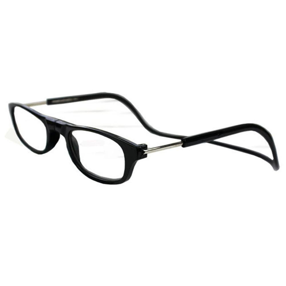 Fashion Magnet Eyewear Folding Hanging Neck Reading Glasses HD Resin Lens Diopter +1.0/+1.5/+2.0/+2.5/+3.0/+3.5/+4 Unisex Porta