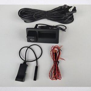 Image 4 - RGB מבט אחורי היפוך מצלמה עבור פולקסווגן Jetta MK5 MK6 Tiguan פאסאט B7 RNS510 RNS315 דינמי מסלול תא מטען ידית RVC מצלמה
