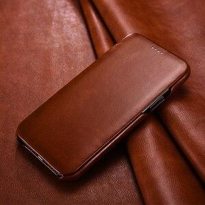 Image 2 - ICARER funda de piel auténtica Original para iPhone 11/ Pro/ Max, funda de lujo con tapa para Apple iPhone 11 Pro Max