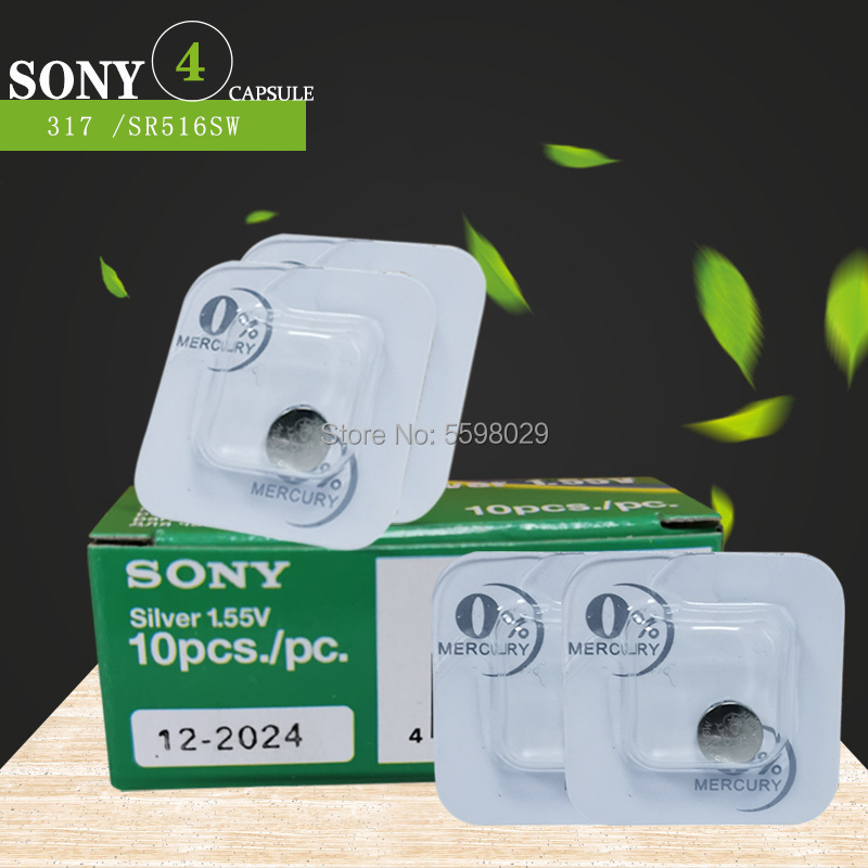 4pcs/Lot Brand New Sony Single grain 317 <font><b>SR516SW</b></font> SR62 D317 V317 Watch Battery Button Coin Cell For Watch Electric Toys image