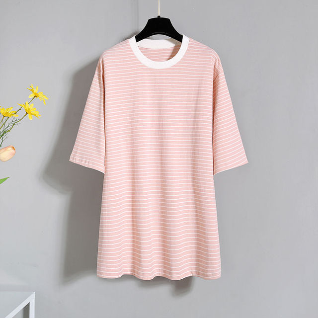 2021 Summer Korean Fashion Striped T-shirt Overalls Set for Women Leisure Joker Girls Student High Waist Shorts Clothing Sets 3