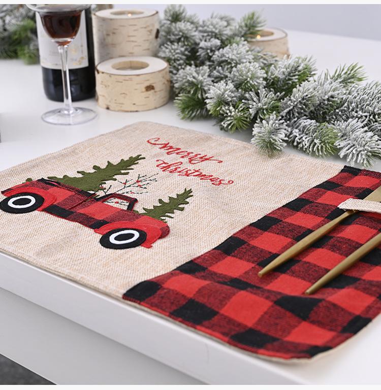 Праздничный Рождественский Декор автомобильная посуда прочная