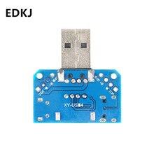 цена на 1pcs USB Connector USB adapter male turn female micro Type-C 4P 2.54mm plug-in USB4