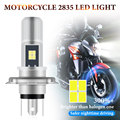 1PC H4 LED Moto H6 P15D LED Motorcycle Headlight Bulbs 3030 chips 8SMD White Yellow Hi Lo Lamp Scooter Accessories Fog Lights12V