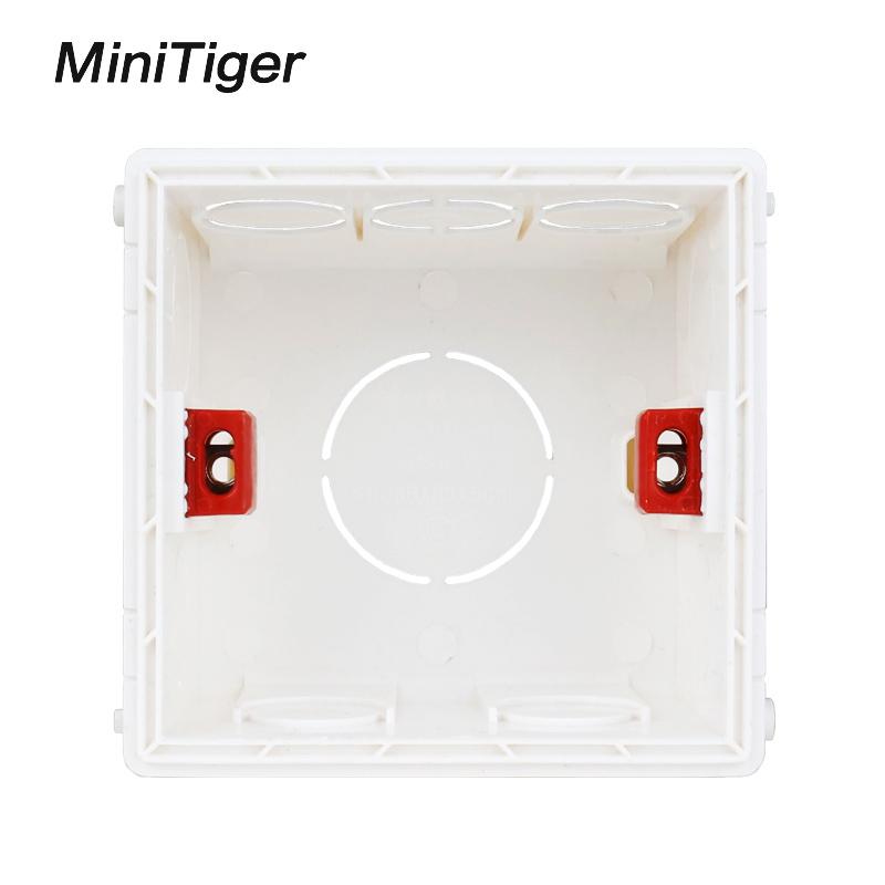 Minitiger Adjustable Mounting Box Internal Cassette 86mm*83mm*50mm For 86 Type Touch Switch and USB Socket Wiring Back Box