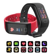 F1 Plus Smart Band Bloeddruk Waterdicht Kleur Screen Sport Armband Hartslagmeter Polsband
