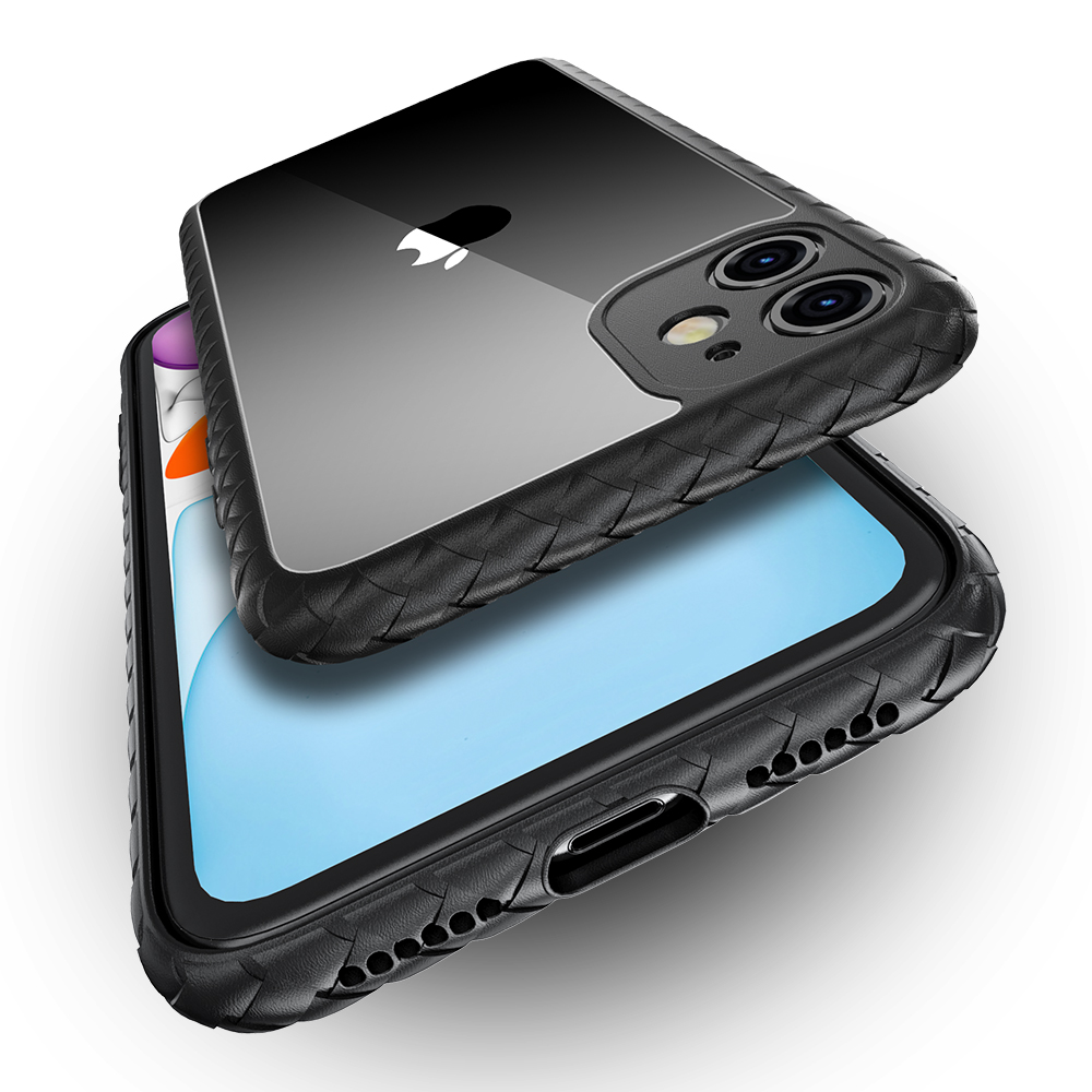 Luxury Shockproof Silicone Airbag Transparent Case For iPhone 11 Pro Max TPU Bumper Cases Hard PC Clear back Cover