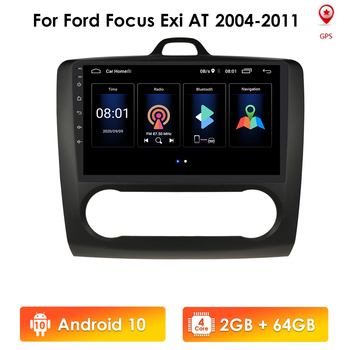 2G+32G 4G LTE Android 9.0 for Ford Focus 2 Mk2 2004-2011 Car FM Radio Multimedia MP5 Video Player Navigation GPS 2 Din WIFI TMPS image