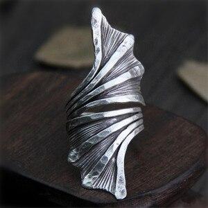 Античные тайские серебряные кольца Fyla Mode, Винтажные Ювелирные изделия в европейском стиле для женщин, унисекс, 46,50 мм, 7,30 г, WT055