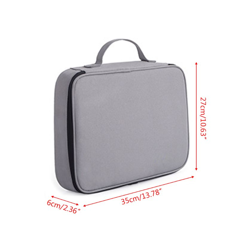 Document Ticket Storage Bag Waterproof Large Capacity Certificates Files Organizer for Home Office Travel 6
