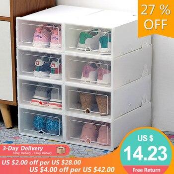 6Pcs Transparent Shoe Storage Boxes - Best Show Storage Boxes Available In 7 Colors