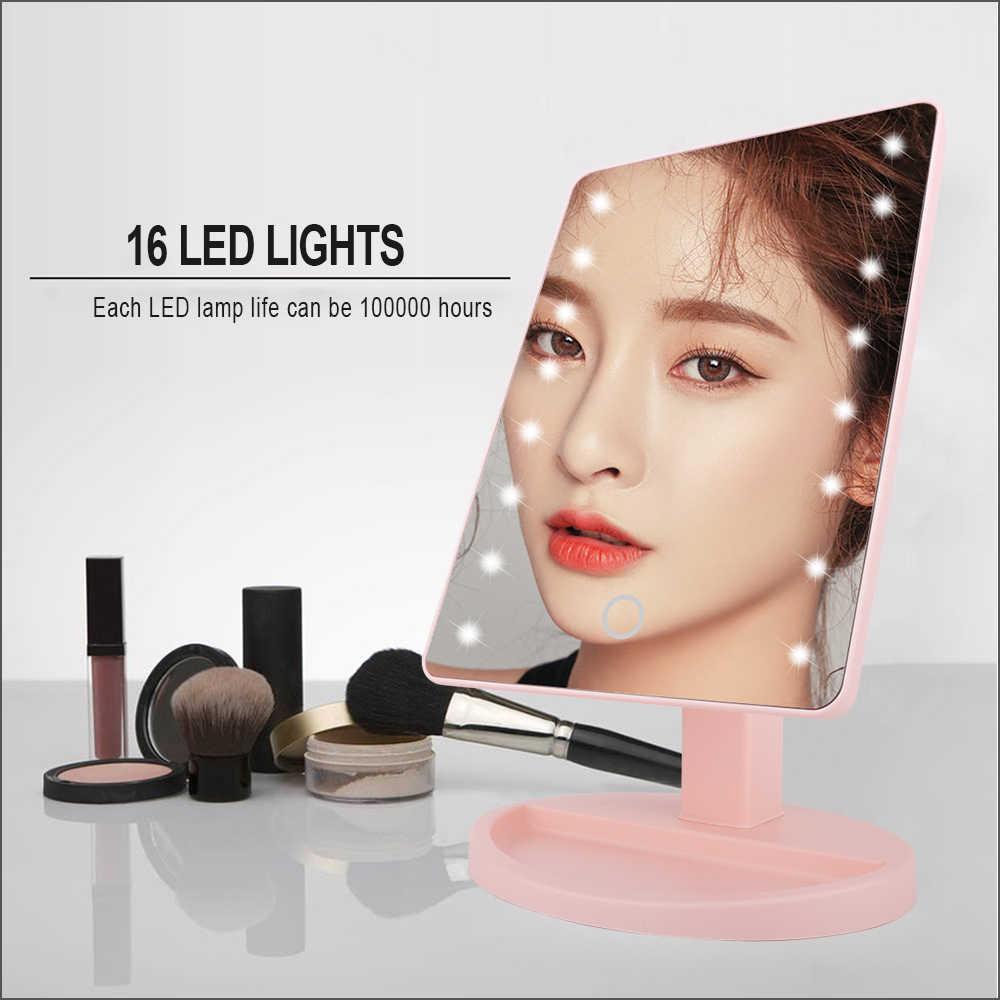 Đèn LED Có Đèn Gương Trang Điểm Có Điều Chỉnh Đèn LED Đèn 16 Màn Hình Cảm Ứng Gương Cho Làm Đẹp Da Mặt Trang Điểm Di Động Vanity Đèn Bàn