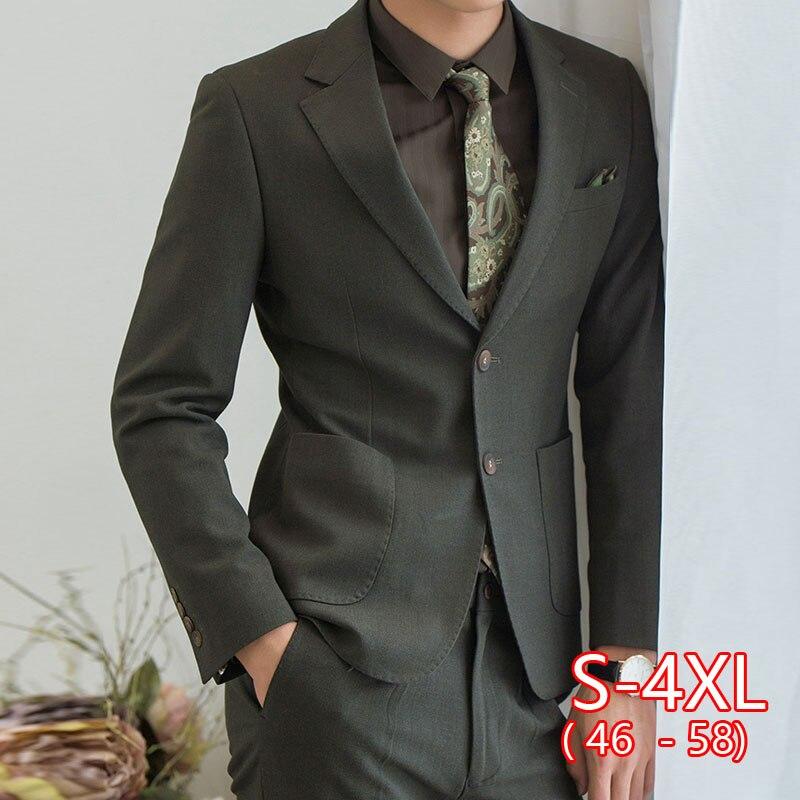 Slim Casual Suit Men's Jacket Spring New Long-sleeved Korean Trend Men's Suit Jacket Casual