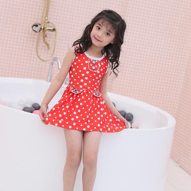 Currently Available Wholesale KID'S Swimwear GIRL'S Split Type Girls Big Boy Kids Baby Swim Bathing Suit One-piece Swimwear Set