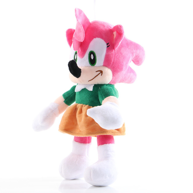 6Pcs 28cm Sonic Figures plush toy Sonic/Shadow/Silver the Hedgehog doll Sonic Shadow Tails Amy Rose for child Animals Toys gift