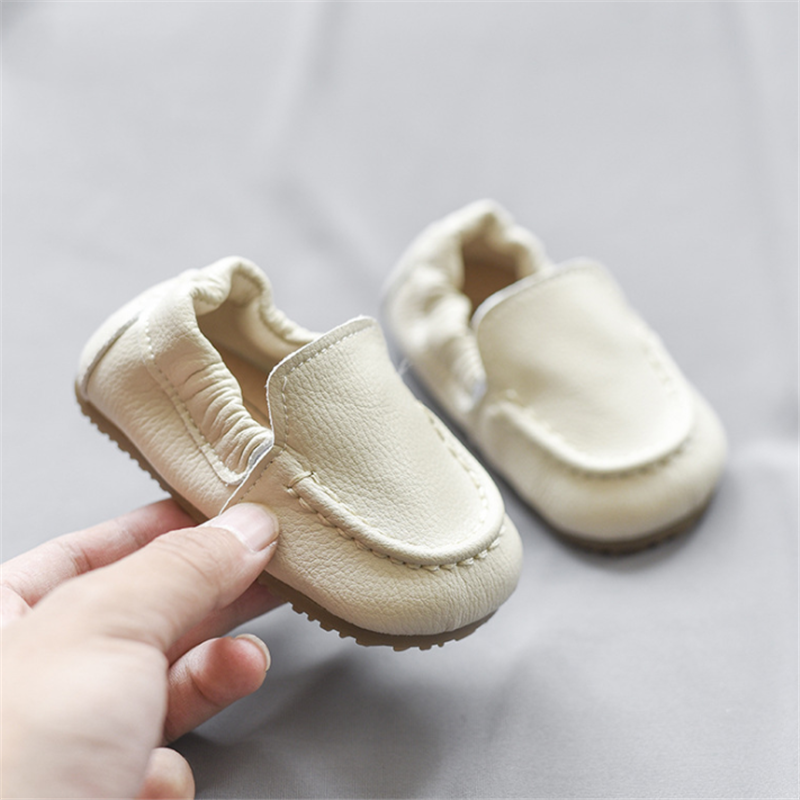 DIMI 2020 Autumn Genuine Leather Baby Shoes 0-3 Year Round Head Comfortable Breathable Non-slip Soft Boy Girl Newborn Shoes