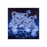 Diamond Painting 5D DIY natural scenery print Embroidery Painting in reflection canvas Rhinestone bright color 20X20cm 67
