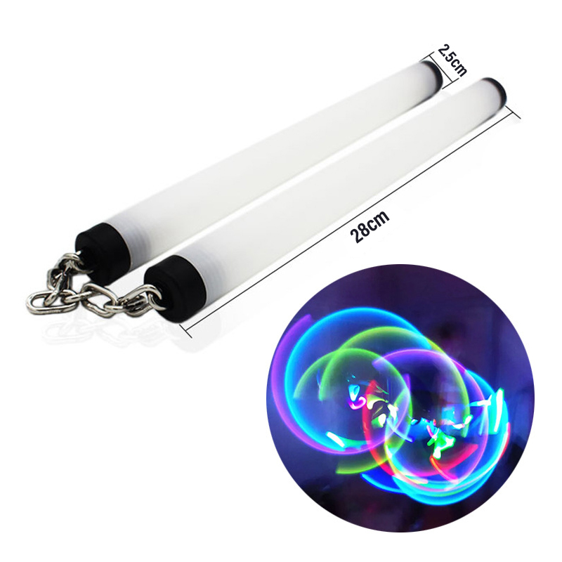 New Led Light Nunchakus Glowing Fluorescent Performance Kongfu Nunchaku Sticks Light Up Toy