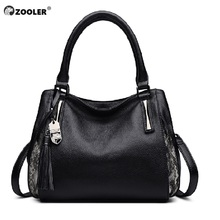 ZOOLER top genuine leather bags elegant Handbags women luxury brand bag Cow tote 2019 designer purse#h105