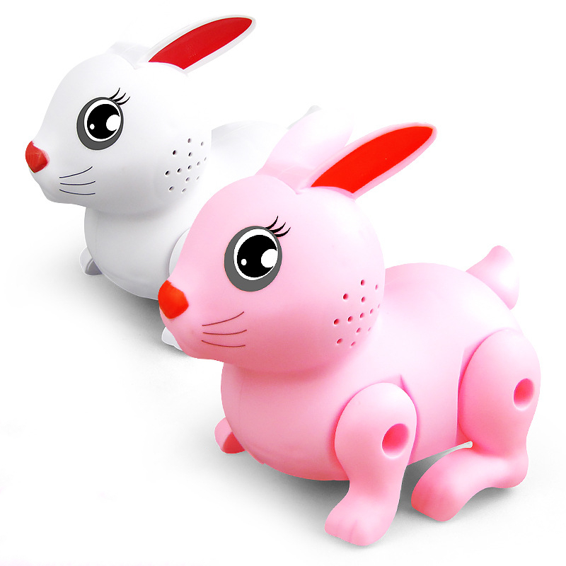 Electric Dancing Walking Music Lighting Rabbit Toy Animal Doll Educational Robot Kids Toy