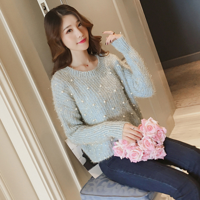 Kawaii Acrylic Sweater with Beads