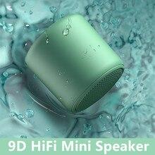RUZSJ New 9D HiFi Bluetooth Speaker IPX5 Waterproof Mini Wireless Portable Speakers IP4Dustproof Subwoof Bass Redloudspeaker box