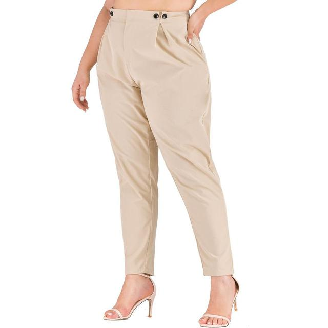 XL-4XL 2020 Spring Plus size Women Harem Pants Casual Summer Office Ladies Trousers Large Size Female High Wiast Khaki Work Pant 21