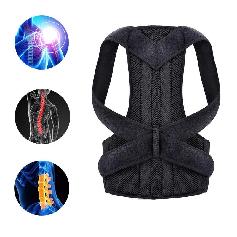 Back Waist Posture Corrector Back Support Belt Waist Trainer Shoulder Lumbar Brace Spine Support Adjustable Adult Corrector Belt