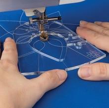جديد حاكم قالب مجموعة العينات ل ماكينة خياطة المحلية 1 مجموعة = 6 قطعة # RL 06