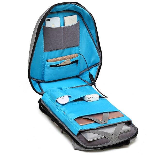 15.6' Laptop Solar Backpack Large iPad Bag USB Charging Business Backpacks Traveling Daypack anti theft backpack Male Mochila 5