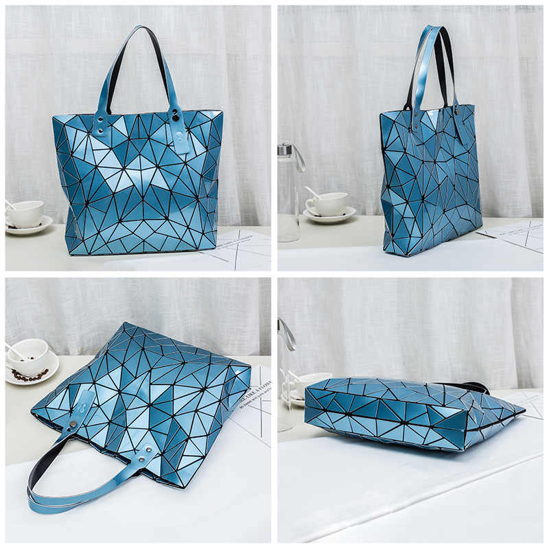 Lovevook Luminosa saco das mulheres saco de luxo designer de moda sacos de ombro para senhoras 2019 sacos de Grande capacidade tote padrão geométrico