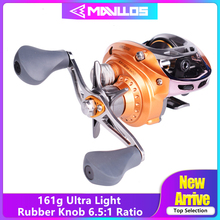 Mavllos 161g Ultra-light Baitcasting Fishing Reel Left Right Hand Metal Spool 6.5:1 Magnetic brake Low Profile Bait Casting