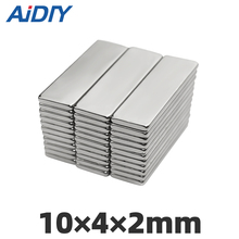 AI DIY 10/30/100 pieces 10x4x2mm  N35 strong Rectangular neodymium magnet permanent small Super powerful magnets10 * 4 2mm