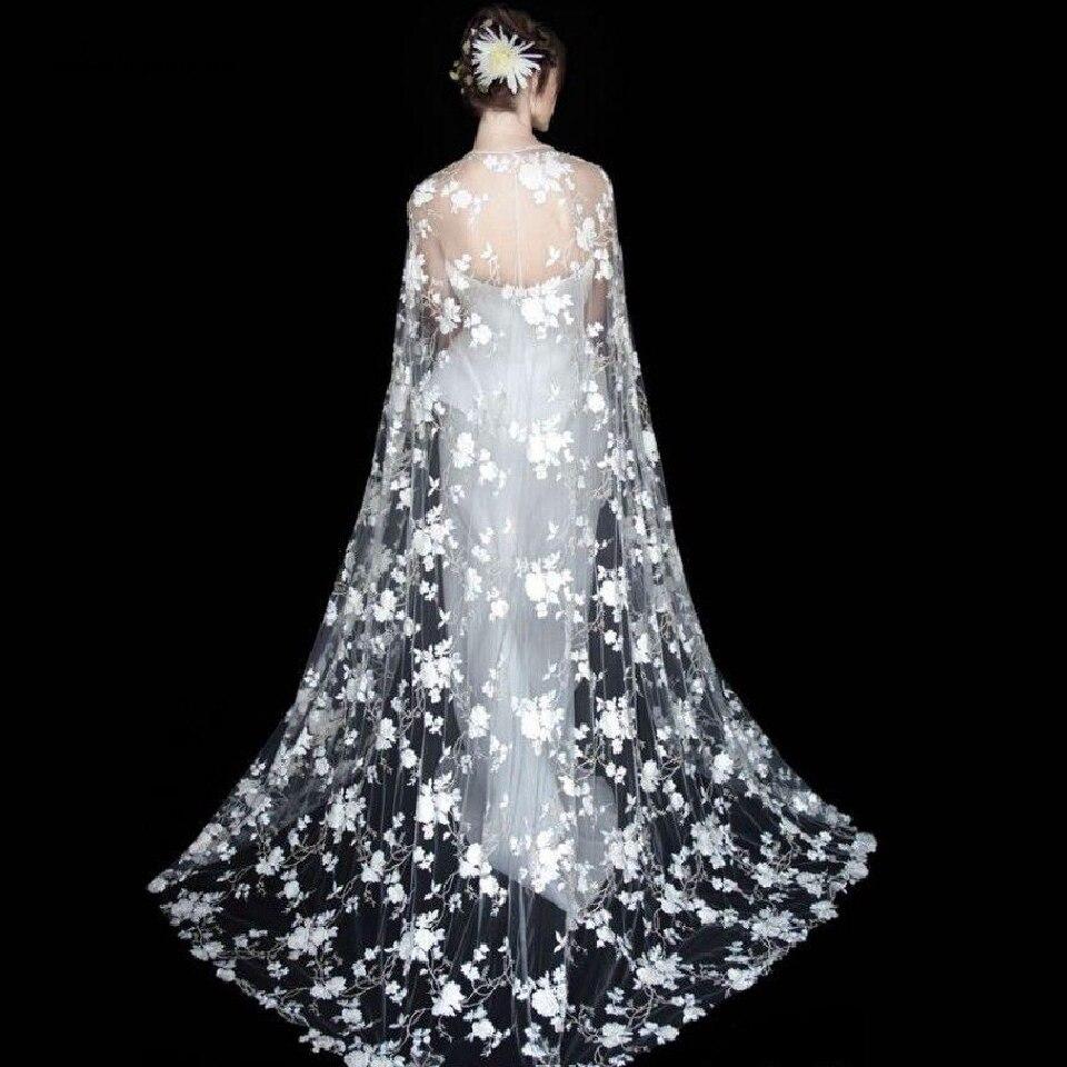 Lakshmigown Vintage Lace Long Bridal Wraps Capes Boho Lace Bolero Wedding Accessories 2019 Etole Femme Mariage
