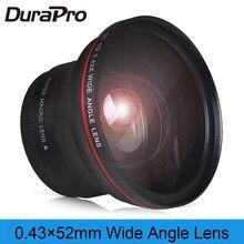 52mm 0.43x profesjonalnym HD obiektyw szerokokątny (w/część makr) dla Nikon D7100 D7000 D5500 D5300 D5200 D5100 D3300 D3200 D3100 D30