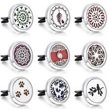 2019 New Tree of Life Paw Car Perfume Diffuser Stainless Steel 30mm Lockets Essential Oil  Air Freshener