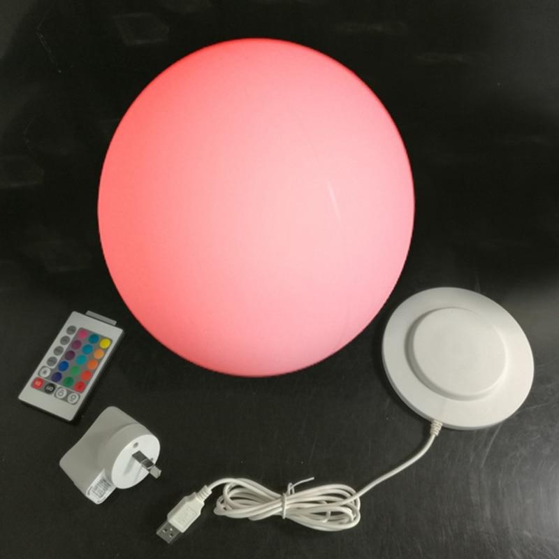 D30cm impermeable led al aire libre lámpara de bola led brillante led impermeable de plástico bola de Navidad decoración envío gratis 1pc - 3