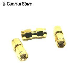 Neue heiße 5 stücke ouro ton sma stecker auf sma stecker em série rf conector coaxial adaptador SMA-JJ