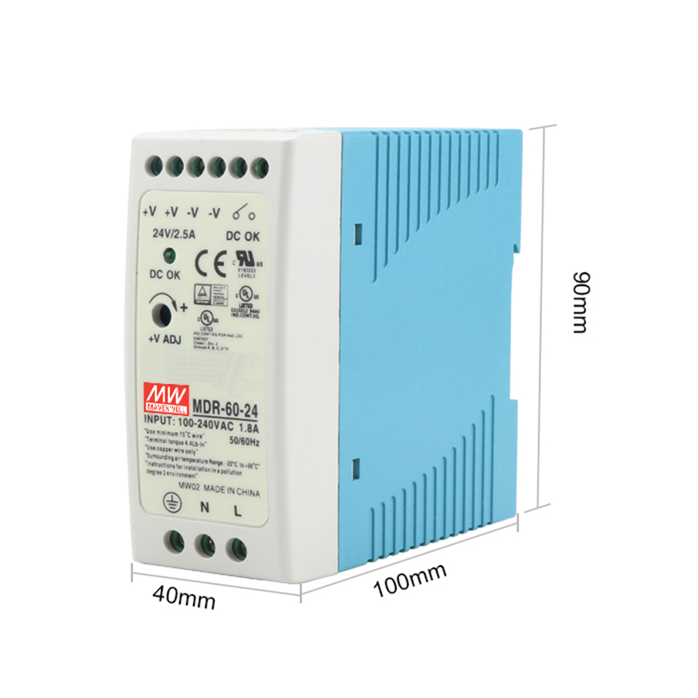 MDR-60 12V 5V 15V 24V 36V 48V 60W Din Rail power supply ac-dc driver voltage regulator power suply 110V 220V-3