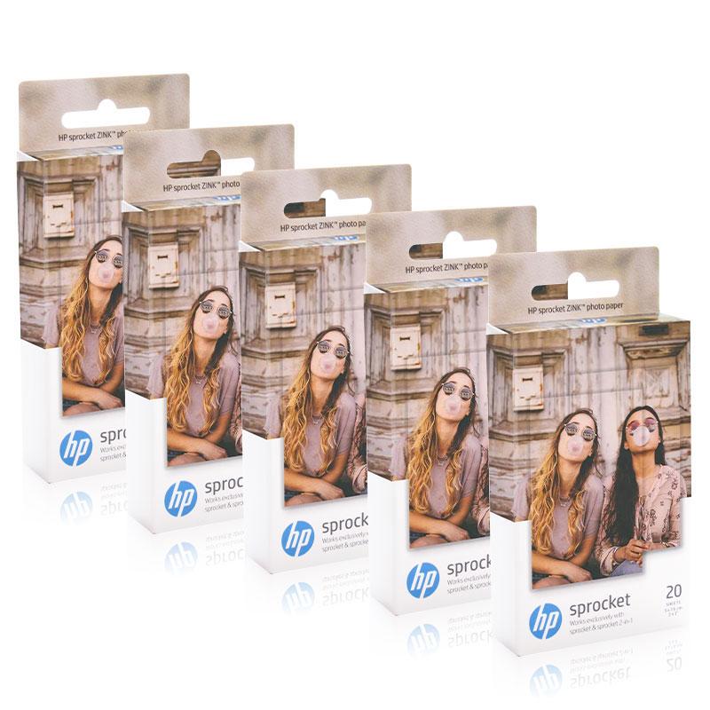Papel da foto de topcolor hp zink para a impressora da foto da roda dentada de hp bolso de impressão bluetooth mini papel pegajoso 5*7.6cm