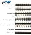 5 шт./лот шаг 1,27 мм штырьковый разъем одиночный и двойной ряд 1*40P 50P 2 * 40P50P прямой/изогнутый штырь с золотым покрытием